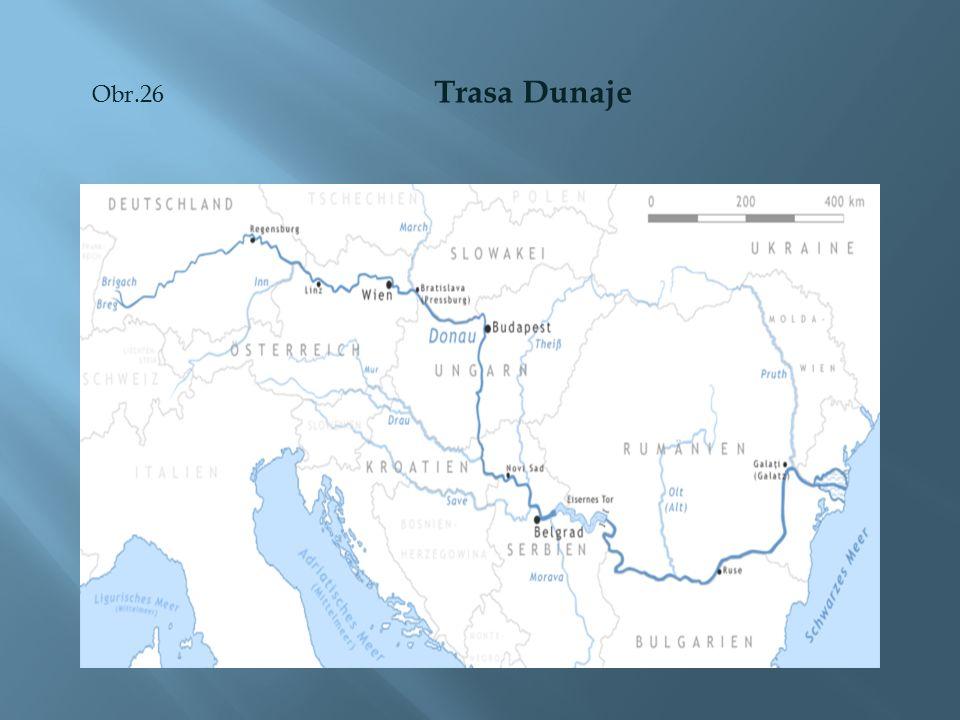 Obr.26 Trasa Dunaje