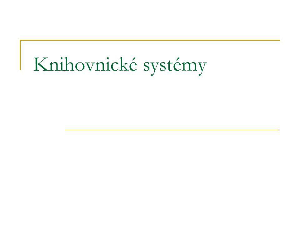 Knihovnické systémy