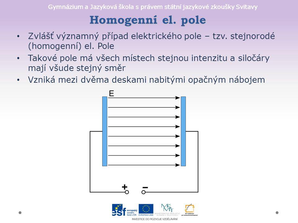 Gymnázium a Jazyková škola s právem státní jazykové zkoušky Svitavy Homogenní el.