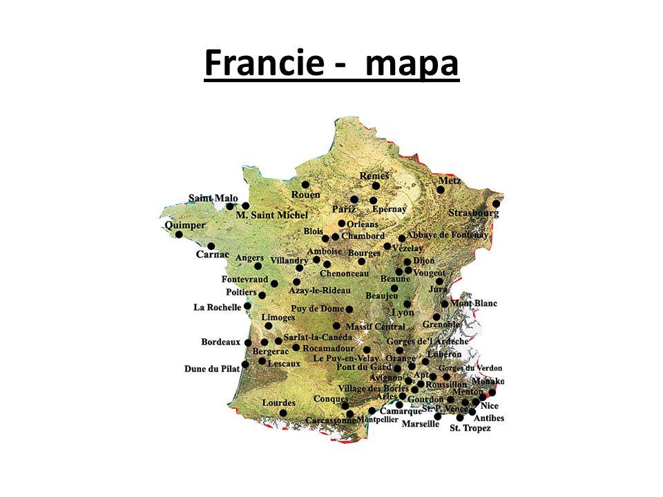 Francie - mapa