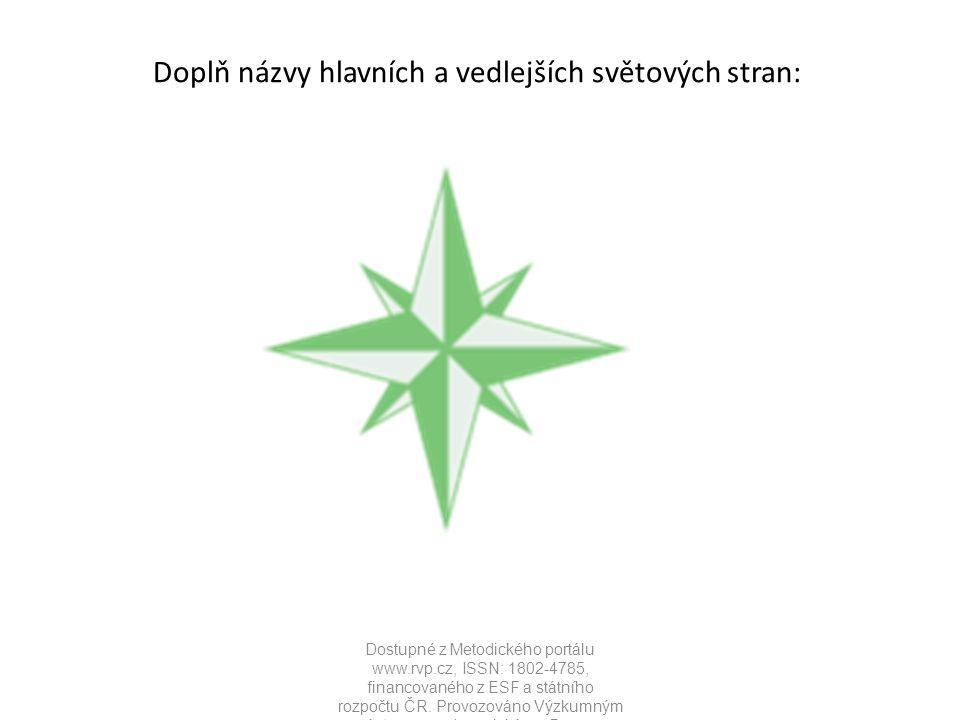 Doplň názvy hlavních a vedlejších světových stran: Dostupné z Metodického portálu www.rvp.cz, ISSN: 1802-4785, financovaného z ESF a státního rozpočtu ČR.