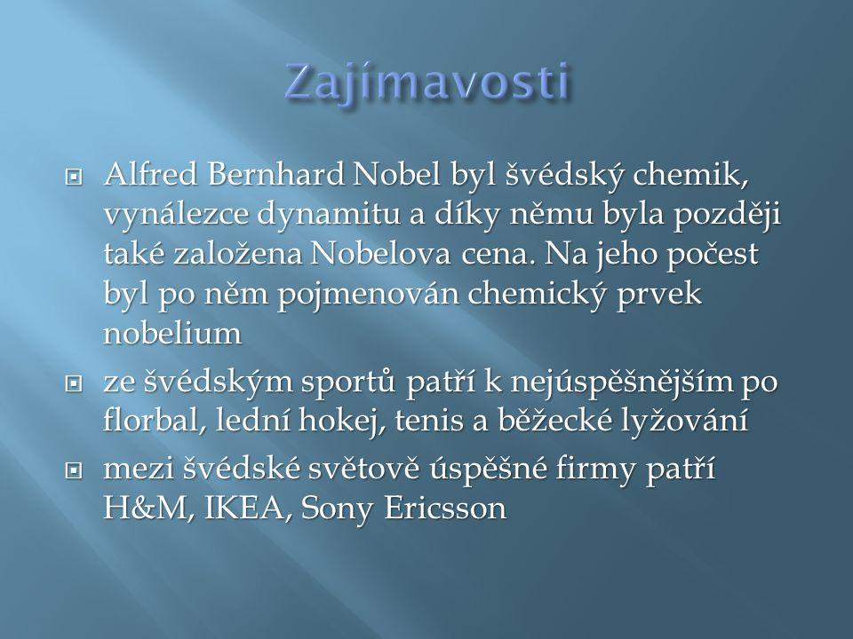  Alfred Bernhard Nobel byl švédský chemik, vynálezce dynamitu a díky němu byla později také založena Nobelova cena.