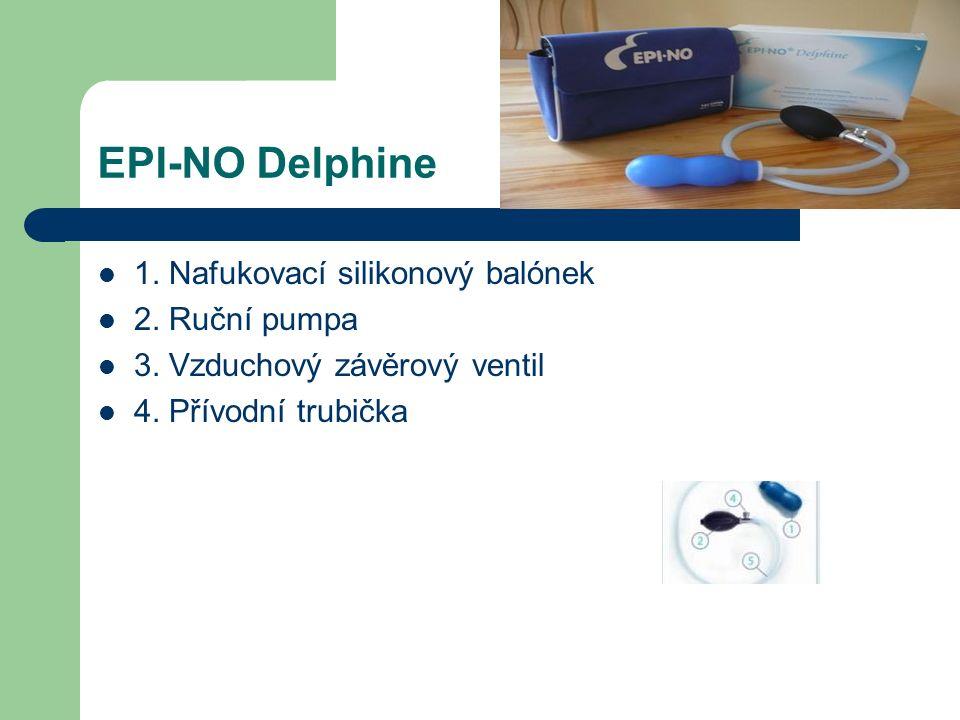 EPI-NO Delphine 1. Nafukovací silikonový balónek 2.