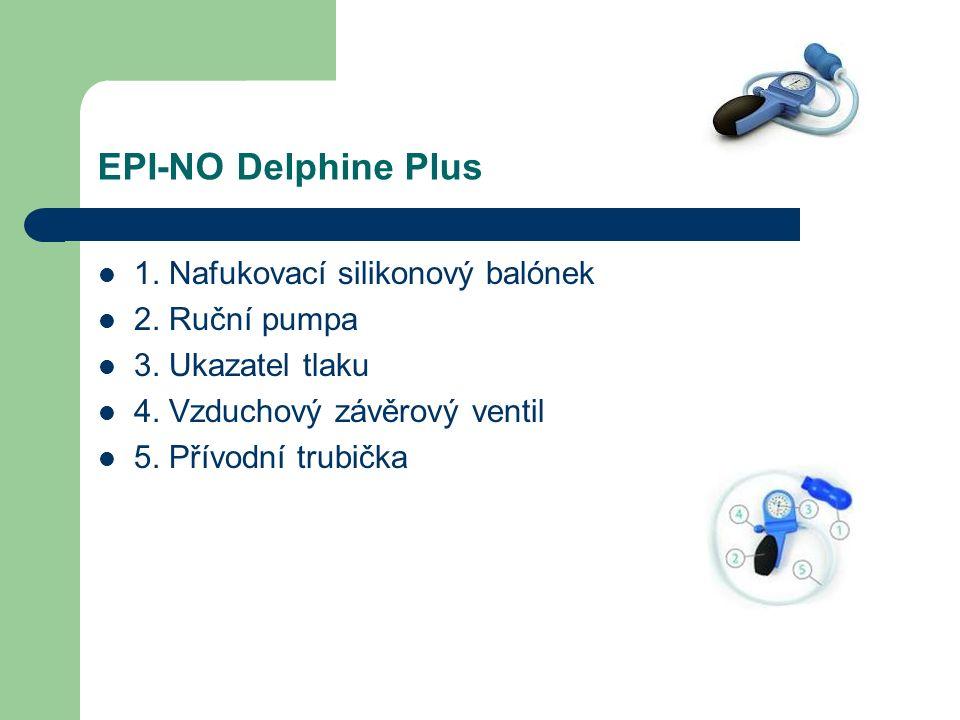 EPI-NO Delphine Plus 1. Nafukovací silikonový balónek 2.