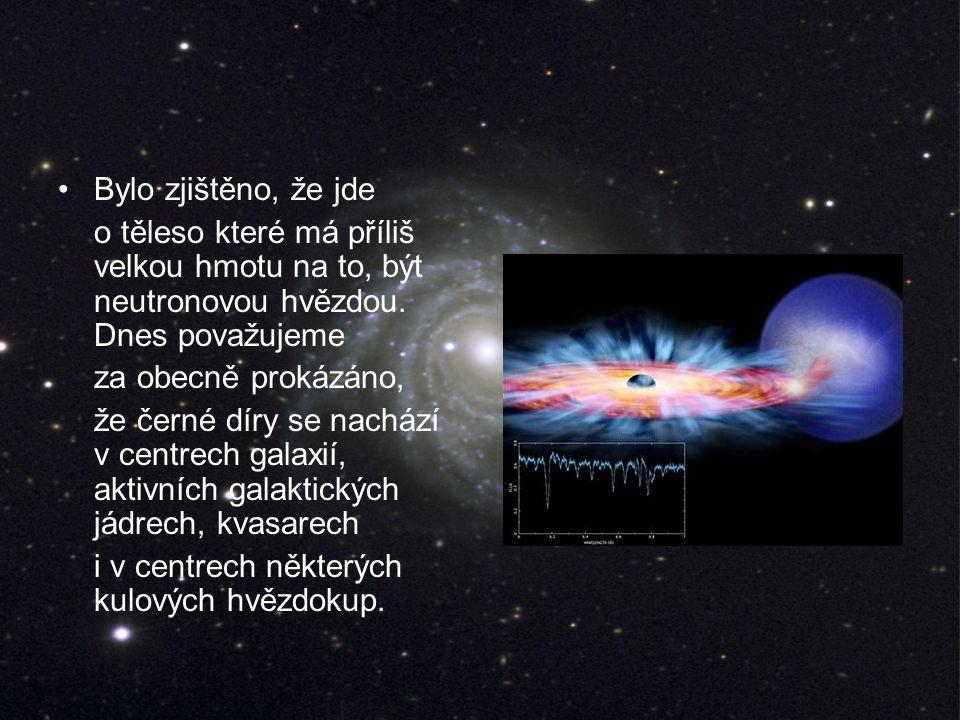 Bylo zjištěno, že jde o těleso které má příliš velkou hmotu na to, být neutronovou hvězdou.