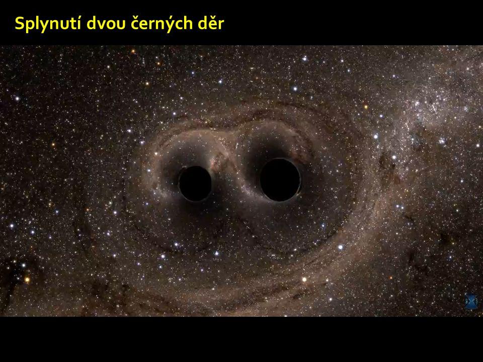 Splynutí dvou černých děr