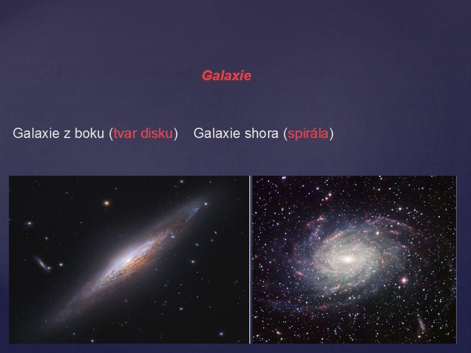 - vzniká zhroucením velké hvězdy na malou velikost - nevysílá žádné záření - přitahuje silou jiná tělesa ČERNÁ DÍRA