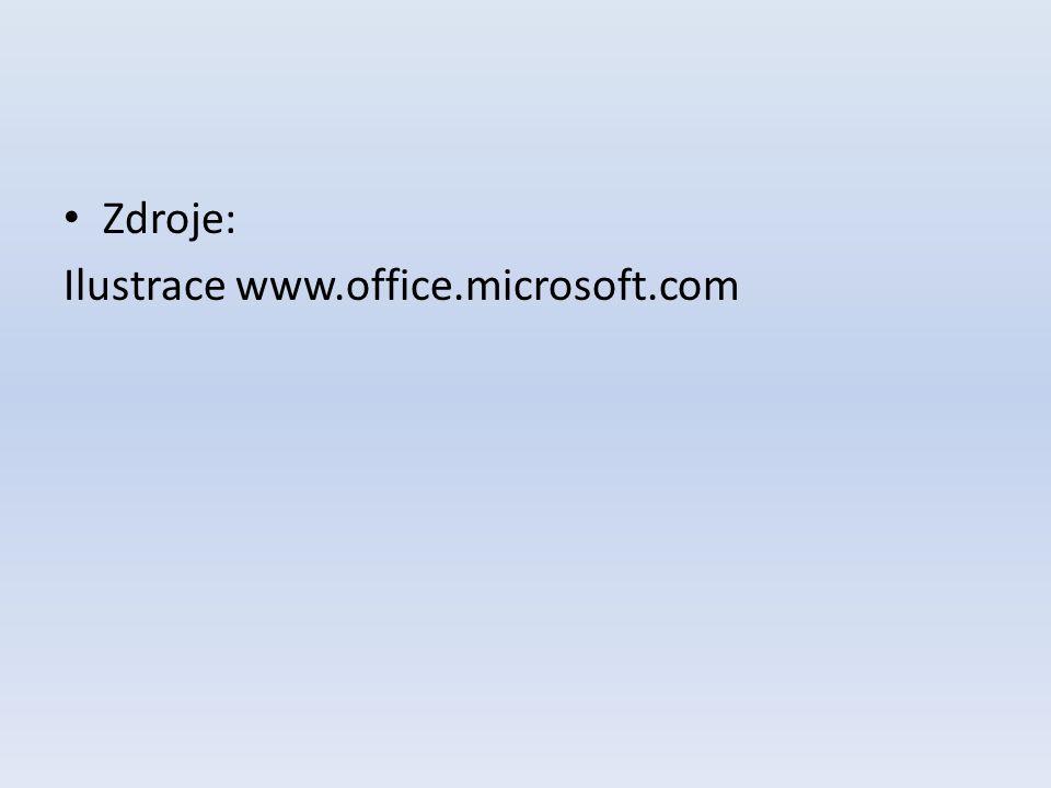 Zdroje: Ilustrace www.office.microsoft.com