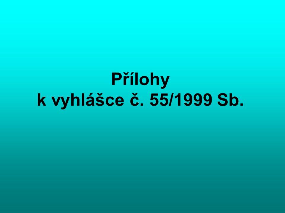 Přílohy k vyhlášce č. 55/1999 Sb.