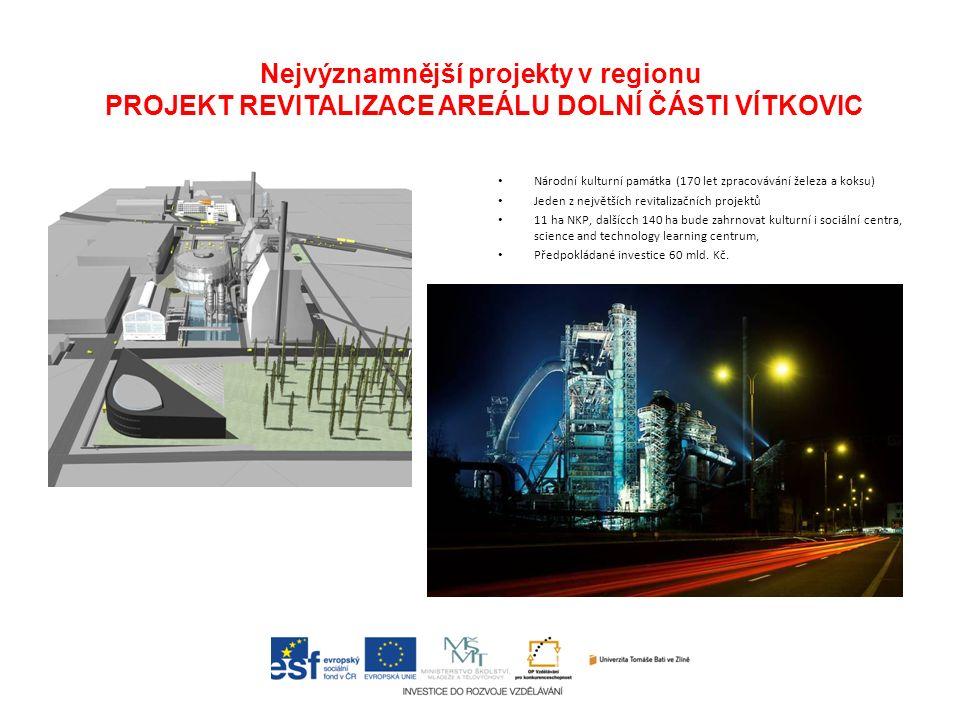 Národní kulturní památka (170 let zpracovávání železa a koksu) Jeden z největších revitalizačních projektů 11 ha NKP, dalšícch 140 ha bude zahrnovat k