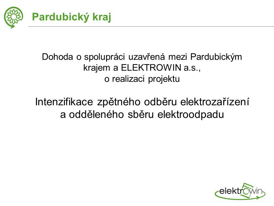 Pardubický kraj Dohoda o spolupráci uzavřená mezi Pardubickým krajem a ELEKTROWIN a.s., o realizaci projektu Intenzifikace zpětného odběru elektrozařízení a odděleného sběru elektroodpadu