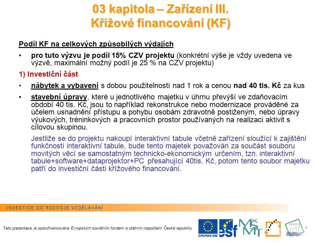 20 Rozpočet projektu II.v Benefitu7+ Nepřímé náklady Rozpočet projektu II.