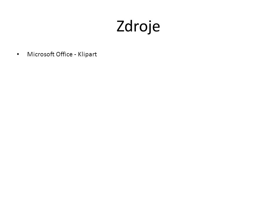 Zdroje Microsoft Office - Klipart