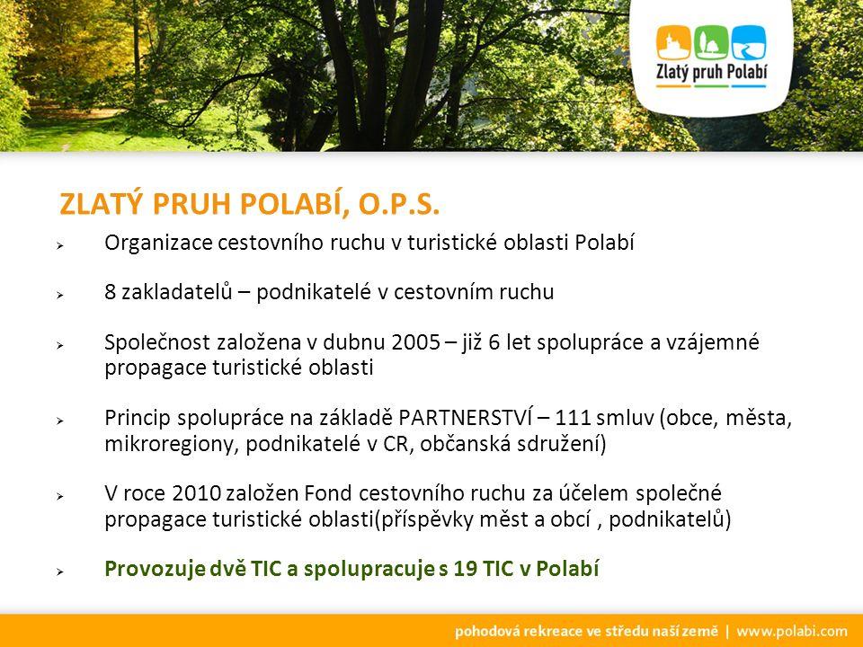 TURISTICKÁ OBLAST POLABÍ * Naše infocentra podávají informace o celé turistické oblasti Polabí