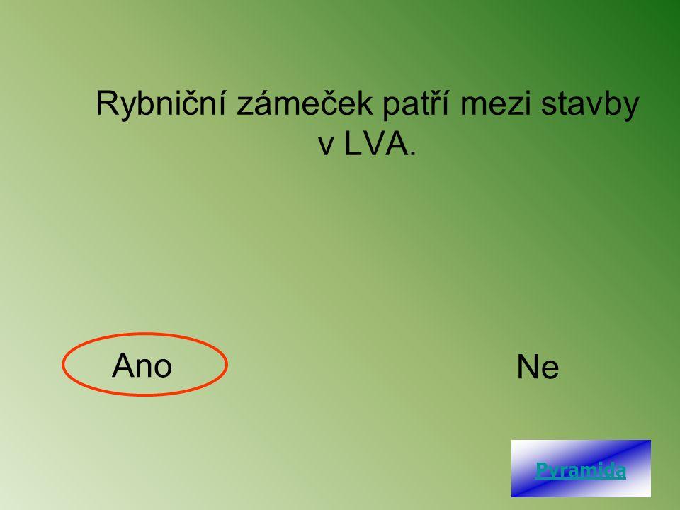 Rybniční zámeček patří mezi stavby v LVA. Ano Ne Pyramida