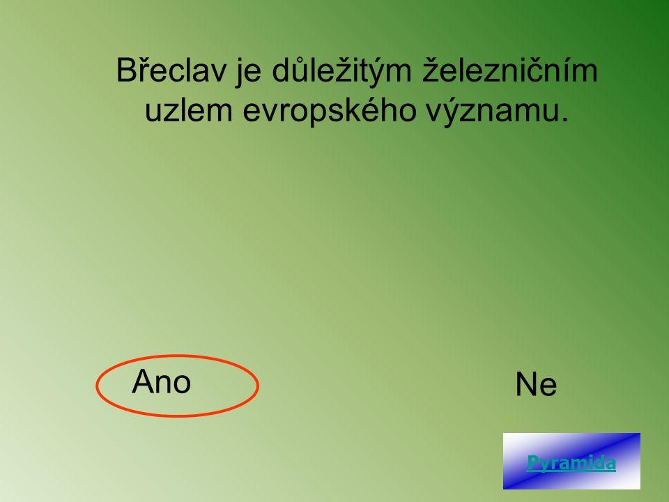 Břeclav je důležitým železničním uzlem evropského významu. Ano Ne Pyramida