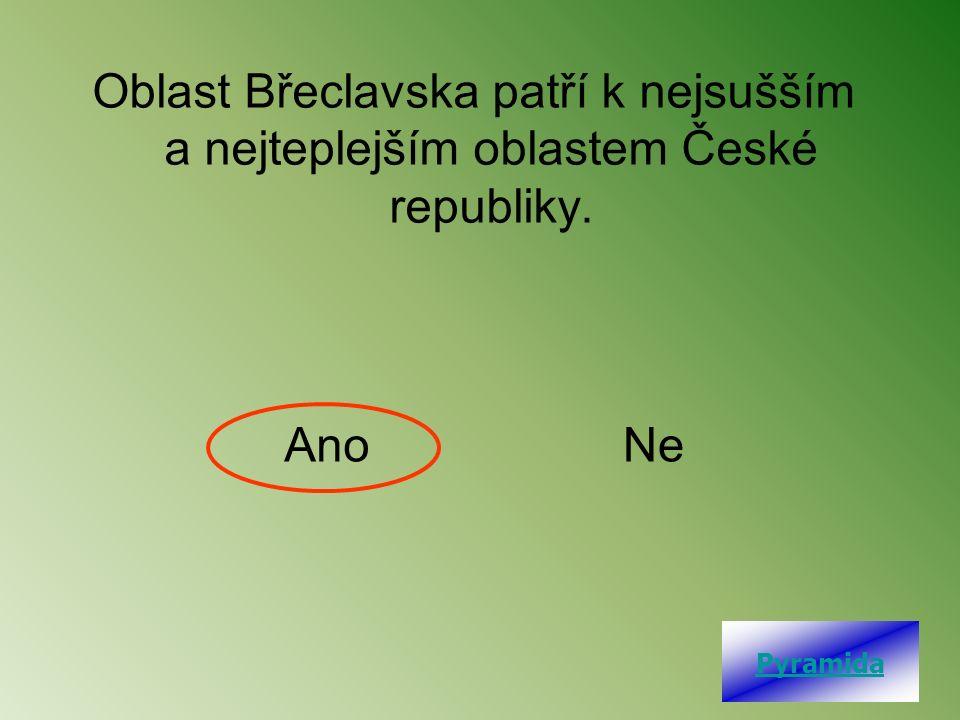 Oblast Břeclavska patří k nejsušším a nejteplejším oblastem České republiky. AnoNe Pyramida
