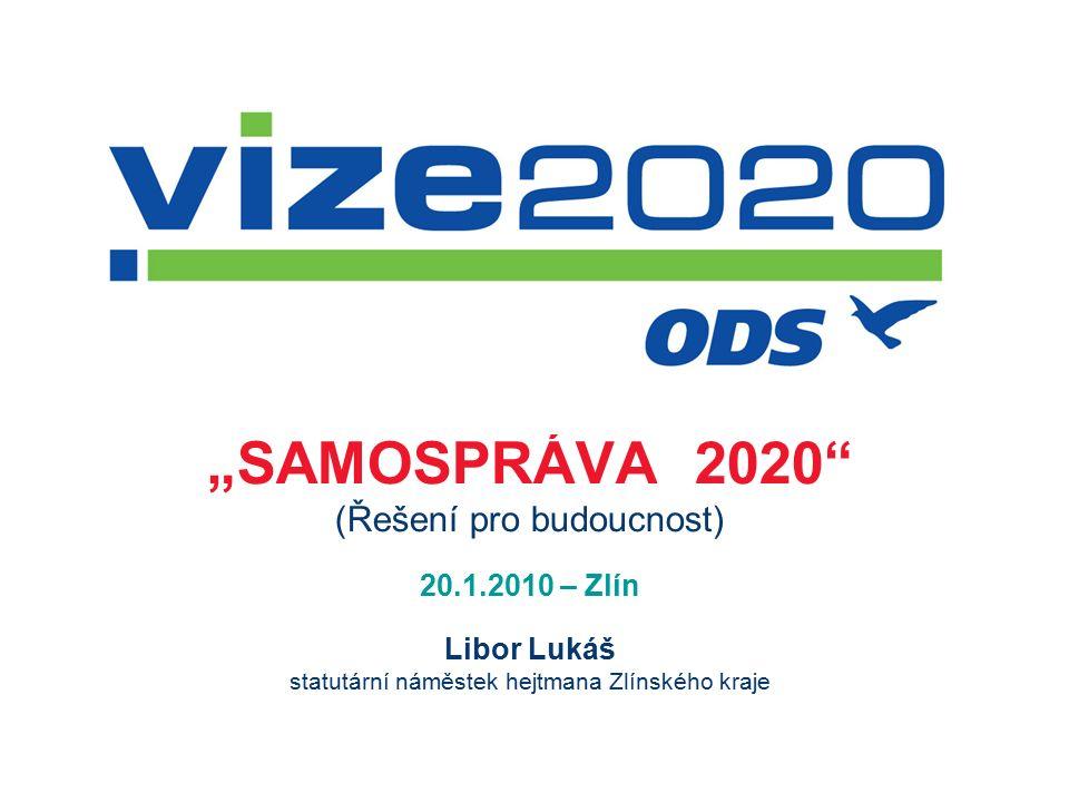 """""""SAMOSPRÁVA 2020 (Řešení pro budoucnost) 20.1.2010 – Zlín Libor Lukáš statutární náměstek hejtmana Zlínského kraje"""