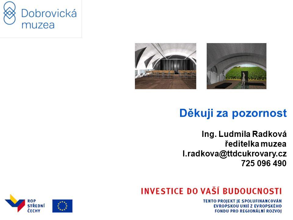 Děkuji za pozornost Ing. Ludmila Radková ředitelka muzea l.radkova@ttdcukrovary.cz 725 096 490