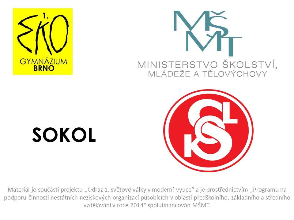 """SOKOL Materiál je součástí projektu """"Odraz 1."""
