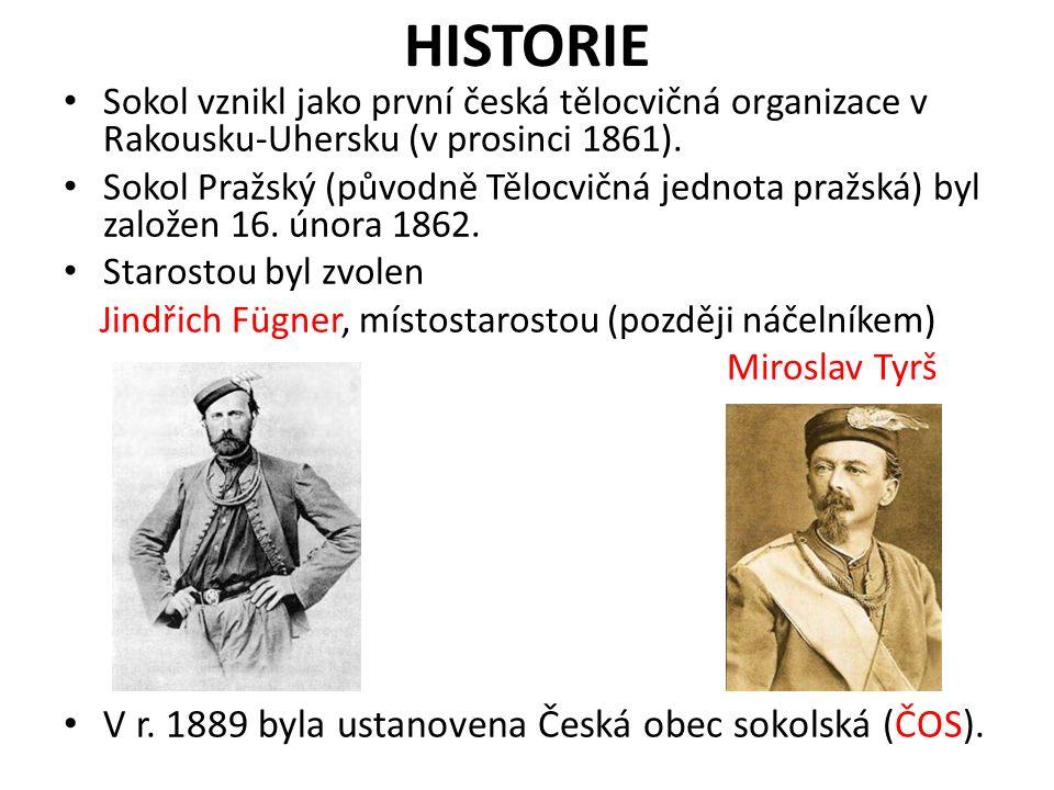 HISTORIE Sokol vznikl jako první česká tělocvičná organizace v Rakousku-Uhersku (v prosinci 1861).