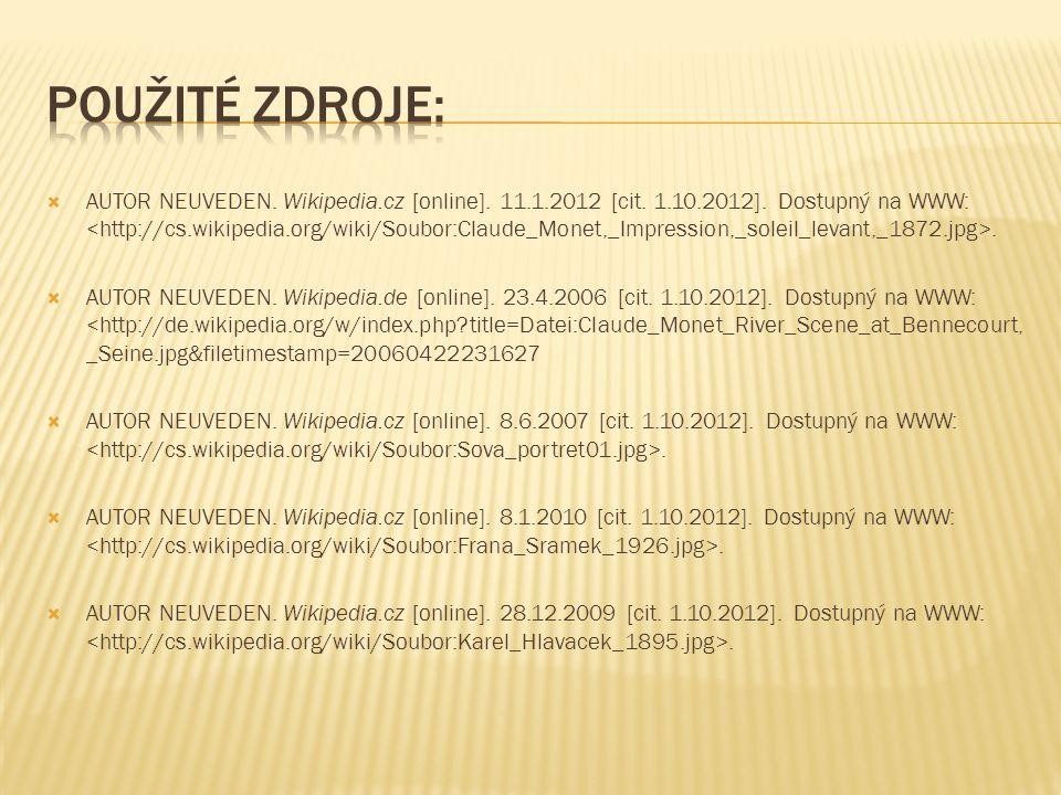  AUTOR NEUVEDEN. Wikipedia.cz [online]. 11.1.2012 [cit.