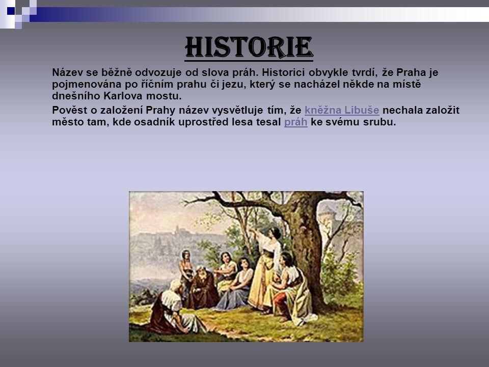 HISTORIE Název se běžně odvozuje od slova práh.