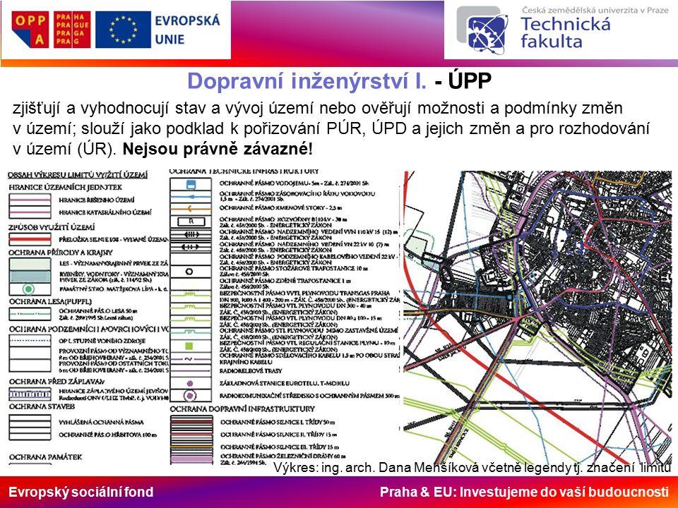 Evropský sociální fond Praha & EU: Investujeme do vaší budoucnosti Dopravní inženýrství I. - ÚPP zjišťují a vyhodnocují stav a vývoj území nebo ověřuj