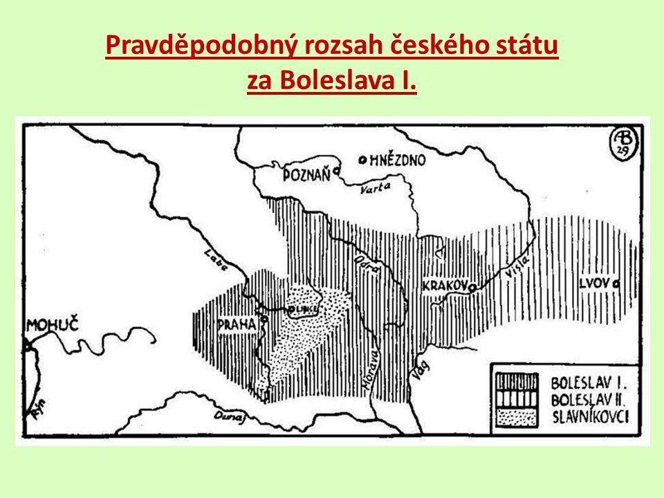 Pravděpodobný rozsah českého státu za Boleslava I.