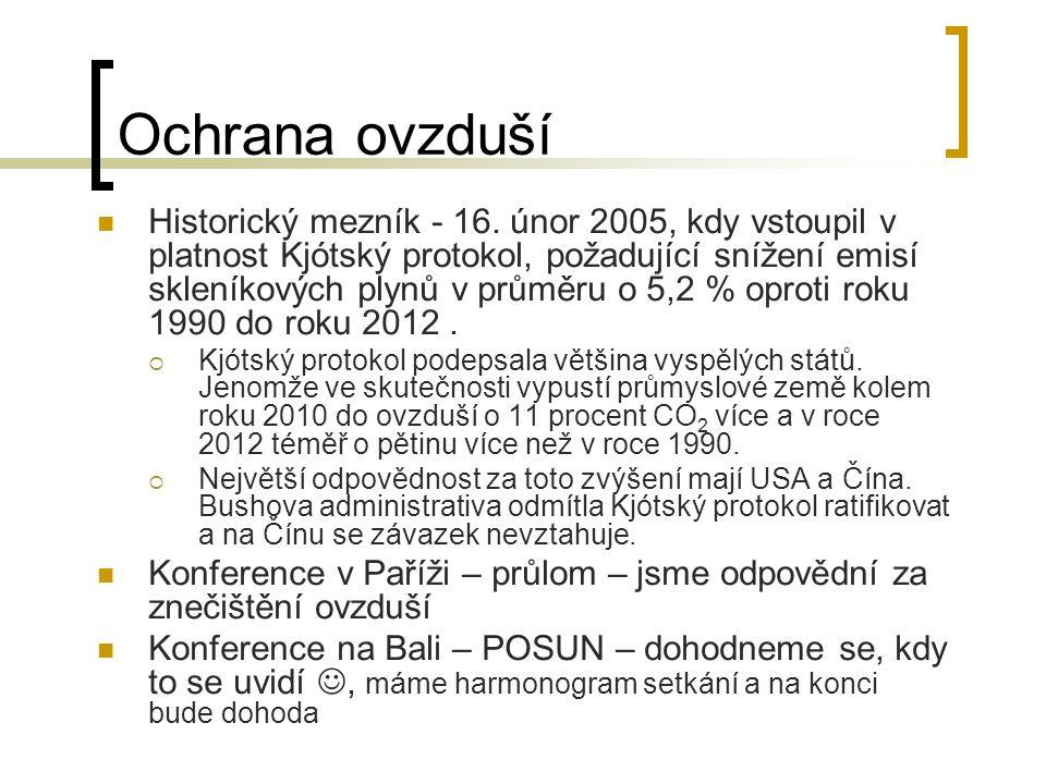 Ochrana ovzduší Historický mezník - 16.