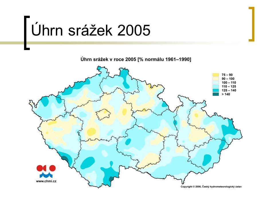Úhrn srážek 2005