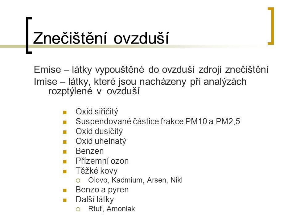 Vývoj znečištění povrchových vod v ČR Z dlouhodobého hlediska - významné zlepšování kvality povrchových vod.