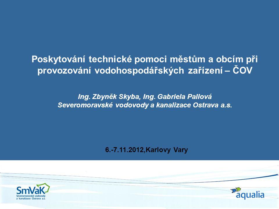 Poskytování technické pomoci městům a obcím při provozování vodohospodářských zařízení – ČOV Ing.