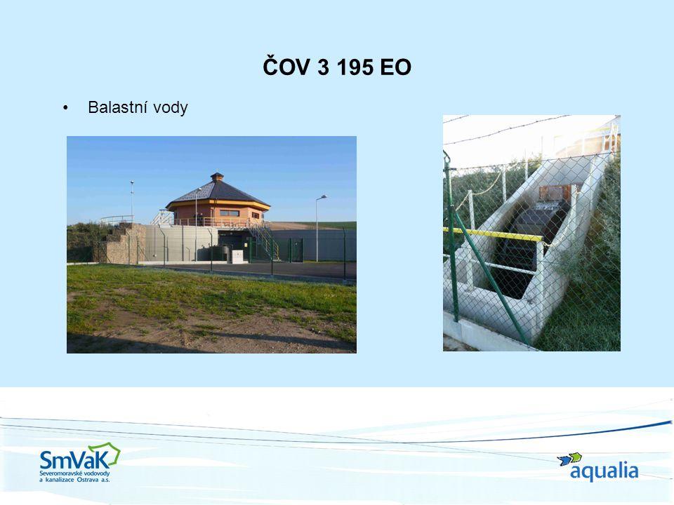 ČOV 3 195 EO Balastní vody
