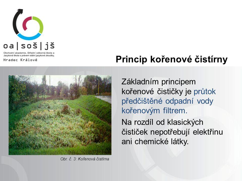 Princip kořenové čistírny Základním principem kořenové čističky je průtok předčištěné odpadní vody kořenovým filtrem.