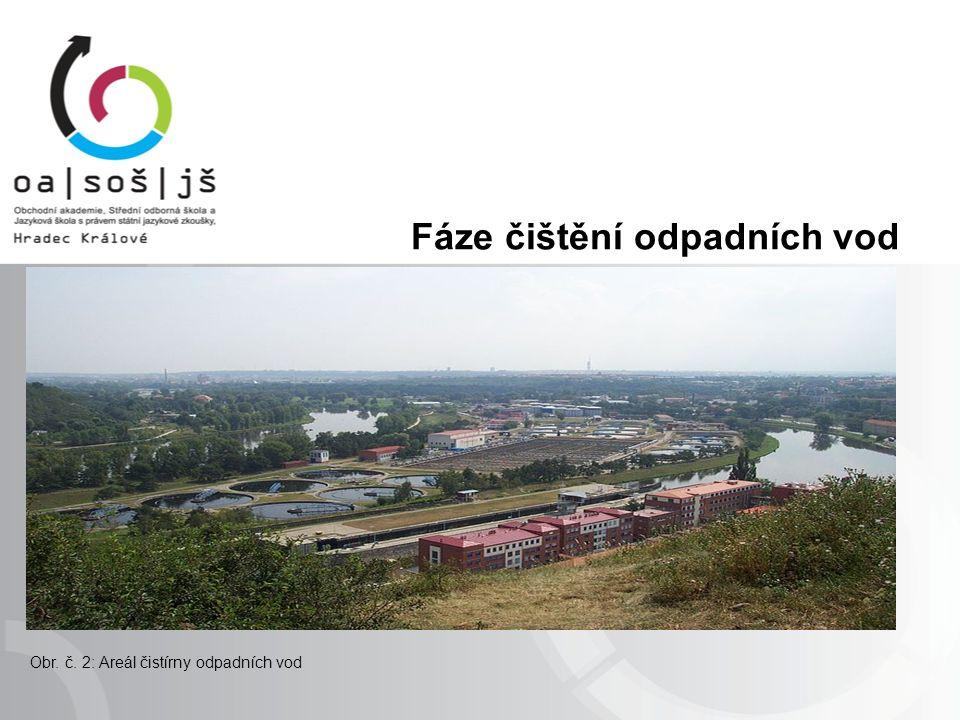 Fáze čištění odpadních vod Obr. č. 2: Areál čistírny odpadních vod