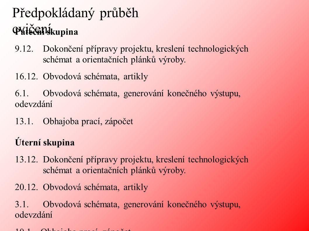 Pokyny pro vypracování projektu Obsah projektu: 1.