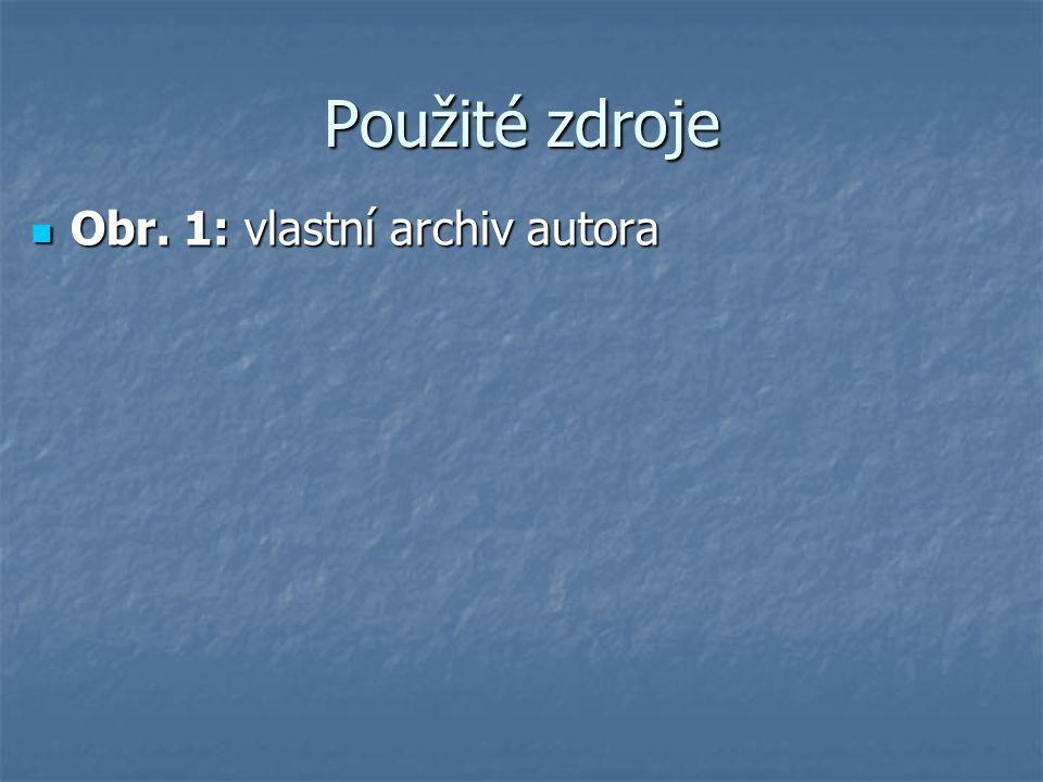 Použité zdroje Obr. 1: vlastní archiv autora Obr. 1: vlastní archiv autora