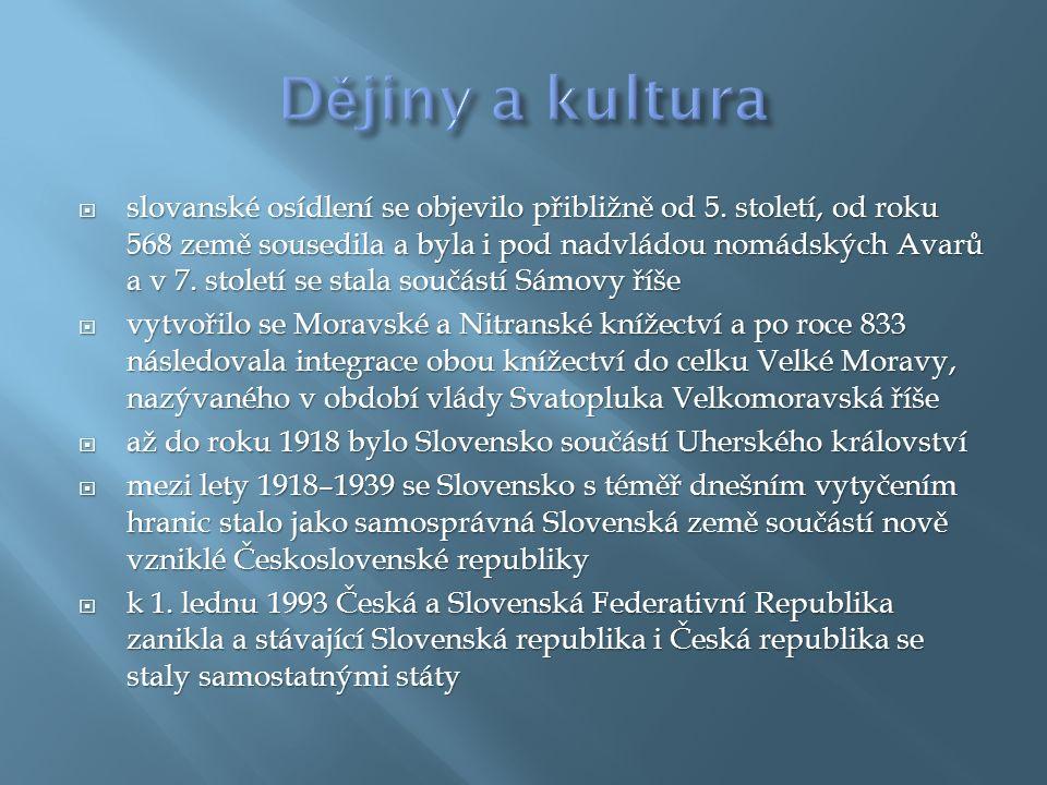  slovanské osídlení se objevilo přibližně od 5.