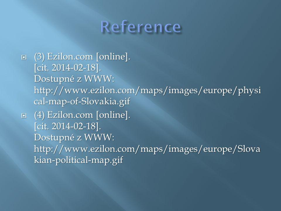  (3) Ezilon.com [online]. [cit. 2014-02-18].