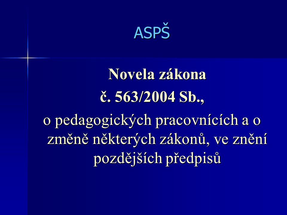 ASPŠ Novela zákona č.