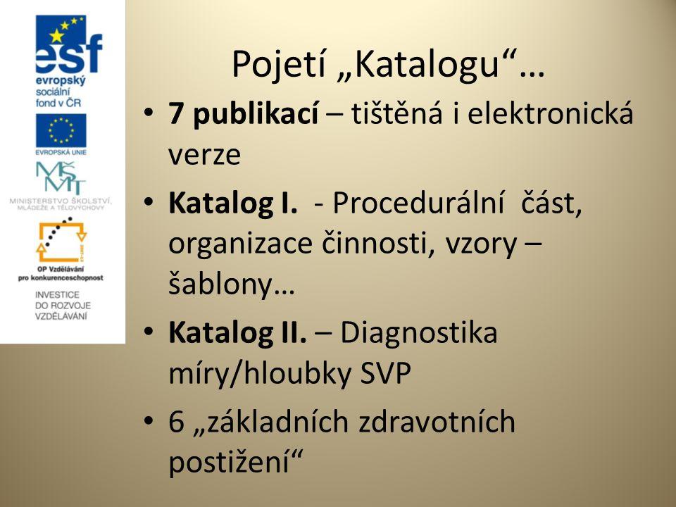 """Pojetí """"Katalogu … 7 publikací – tištěná i elektronická verze Katalog I."""