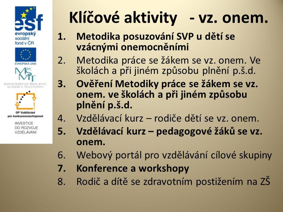 Klíčové aktivity - vz. onem.