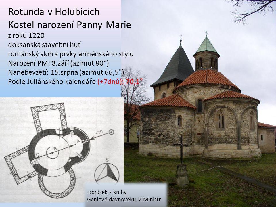 Rotunda v Holubicích obrázek z knihy Geniové dávnověku, Z.Ministr