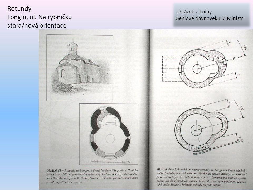 Rotundy Longin, ul. Na rybníčku stará/nová orientace obrázek z knihy Geniové dávnověku, Z.Ministr