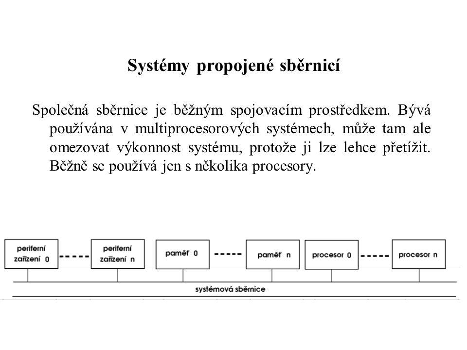 Systémy propojené sběrnicí Společná sběrnice je běžným spojovacím prostředkem.
