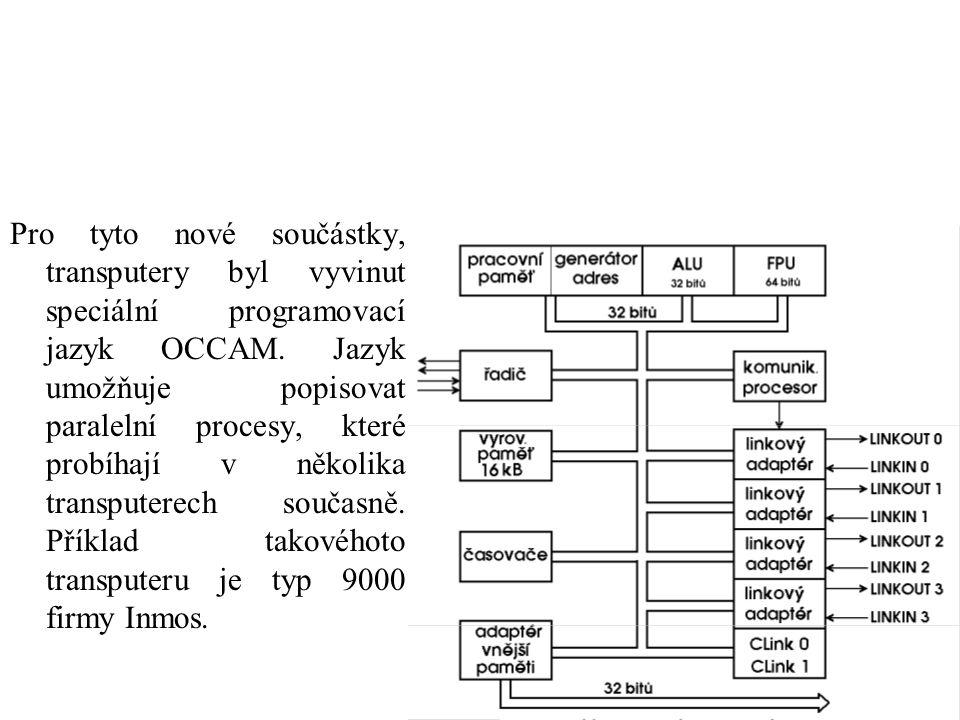 Pro tyto nové součástky, transputery byl vyvinut speciální programovací jazyk OCCAM.