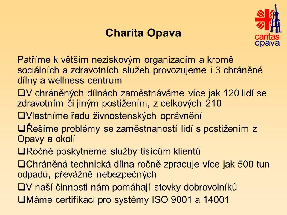 Zahraniční zkušenosti a Charita Opava Od českého pojetí sociálního podnikání se řada projektů lišila.