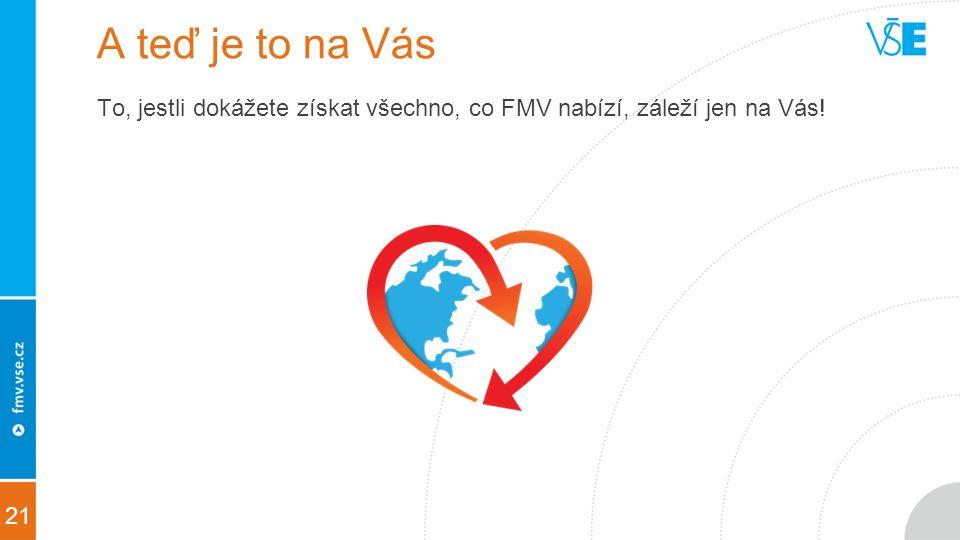 21 A teď je to na Vás To, jestli dokážete získat všechno, co FMV nabízí, záleží jen na Vás!