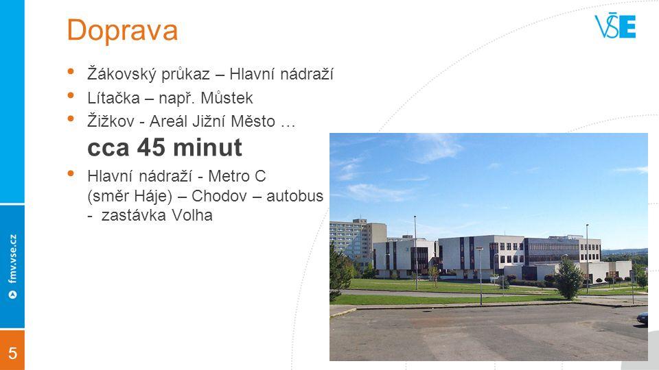 5 Doprava Žákovský průkaz – Hlavní nádraží Lítačka – např.